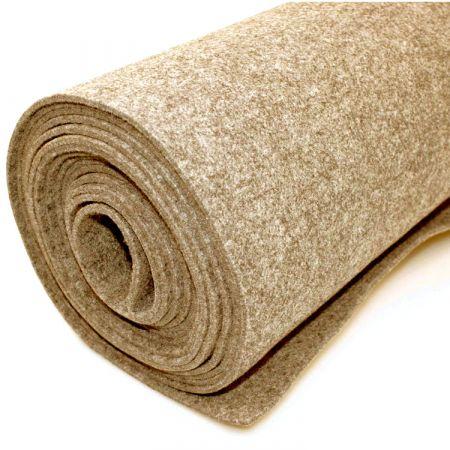 Filttæppe til foring - Beige - 200 x 500 cm
