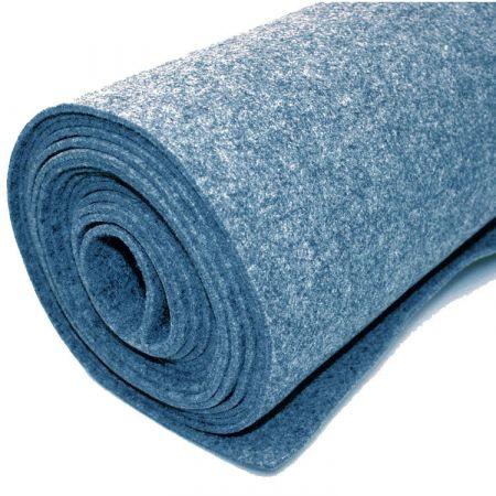 Filttæppe til foring - blå - 200 x 500 cm