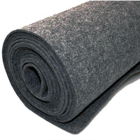 Filttæppe til foring - mørkegrå - 200 x 500 cm