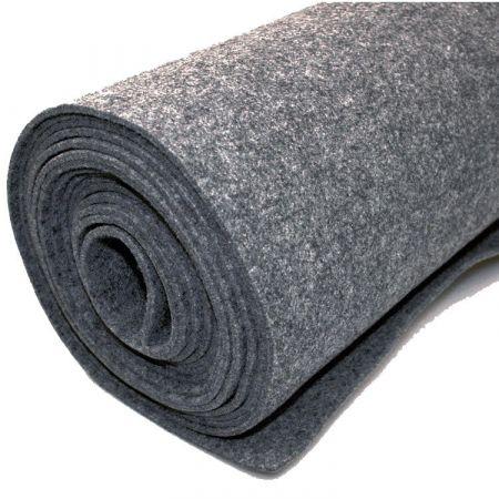 Filttæppe til foring - grå - 200 x 500 cm