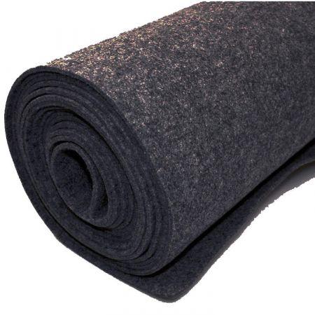 Filttæppe til foring - sort - 200 x 500 cm